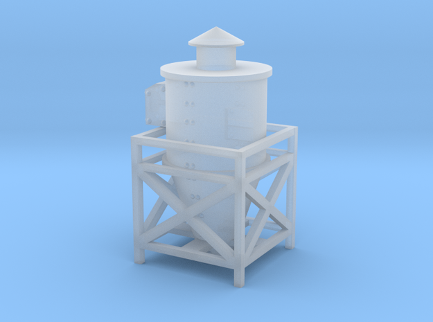 Dust Collector Style #2 Rooftop or Wall HO Scale in Frosted Ultra Detail