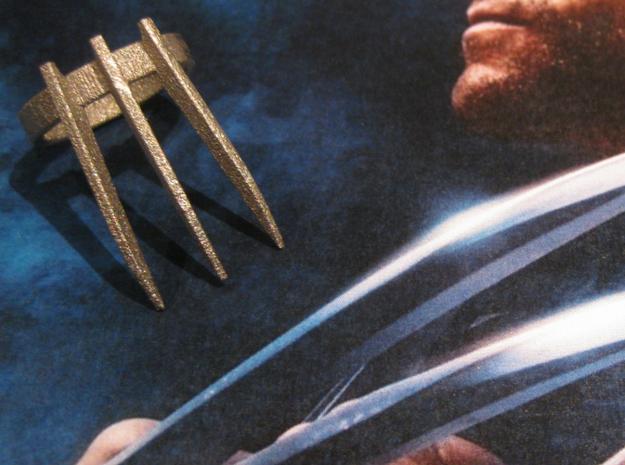 Wolverine's Adamantium Ring (X-men) in Stainless Steel