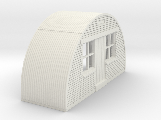 N-87-complete-nissen-hut-front-brick-16-36-1a in White Natural Versatile Plastic
