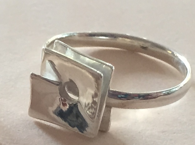 Nobel Ring in Polished Silver: 7 / 54