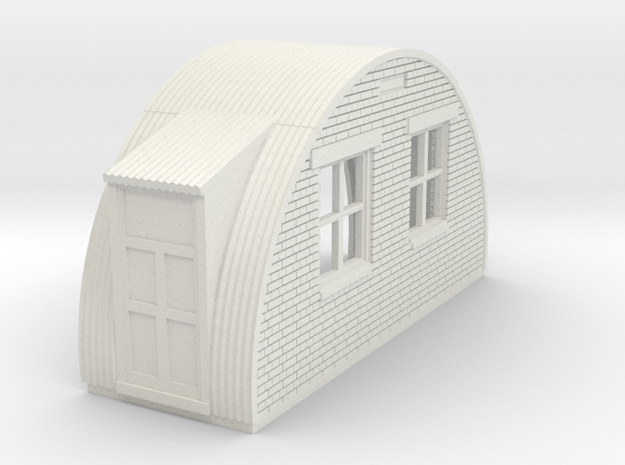 N-87-complete-nissen-hut-back-brick-2-doors-16-36- in White Natural Versatile Plastic