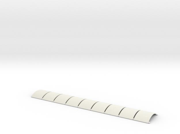 N-87-nissen-hut-panel-x9 in White Natural Versatile Plastic