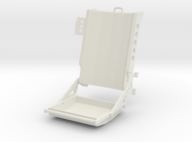 Seat - Wessex helicopter in White Natural Versatile Plastic