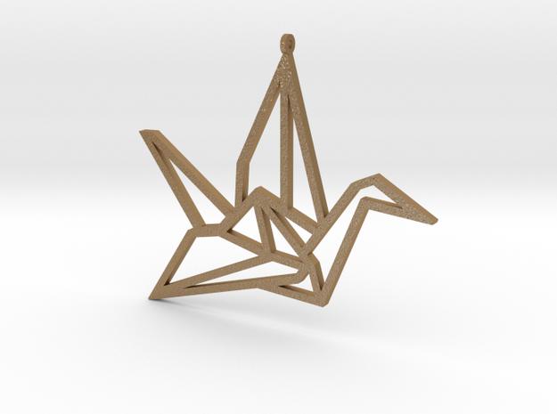 Crane Pendant L in Matte Gold Steel