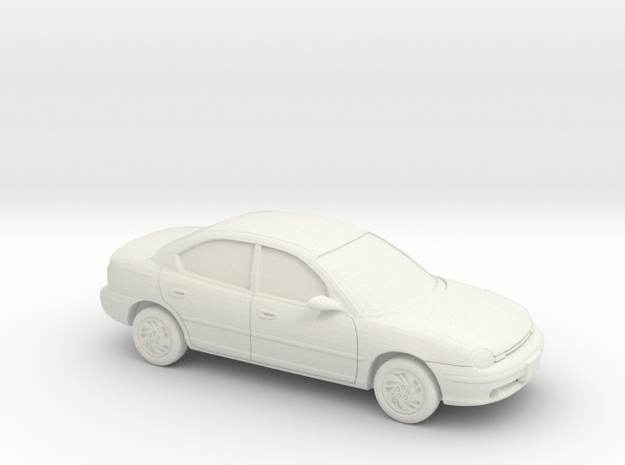 1/43 Dodge Neon 4 Door in White Natural Versatile Plastic