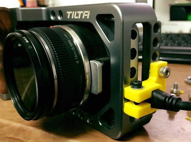 BMPCC HDMI holder for TILTA cage in White Strong & Flexible