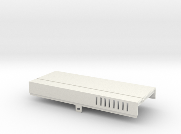 Amiga 1000 Front Expansion Cover in White Natural Versatile Plastic