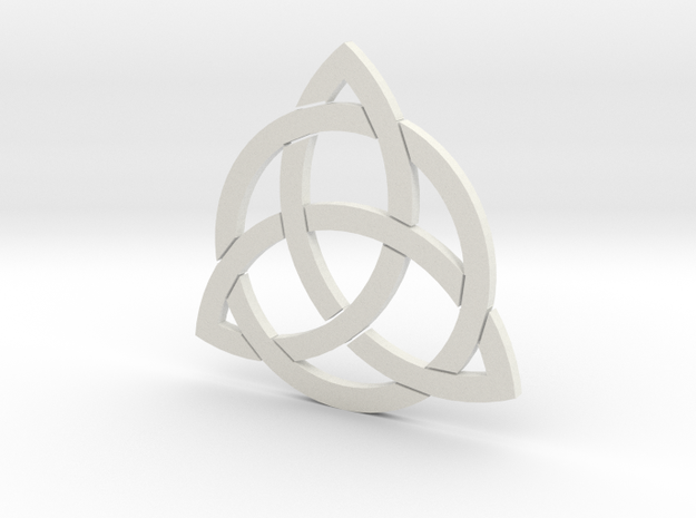 Triquetra Puzel in White Strong & Flexible