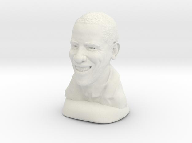 Barack Obama in White Natural Versatile Plastic