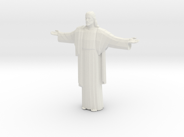 Cristo-redentor Tall in White Natural Versatile Plastic