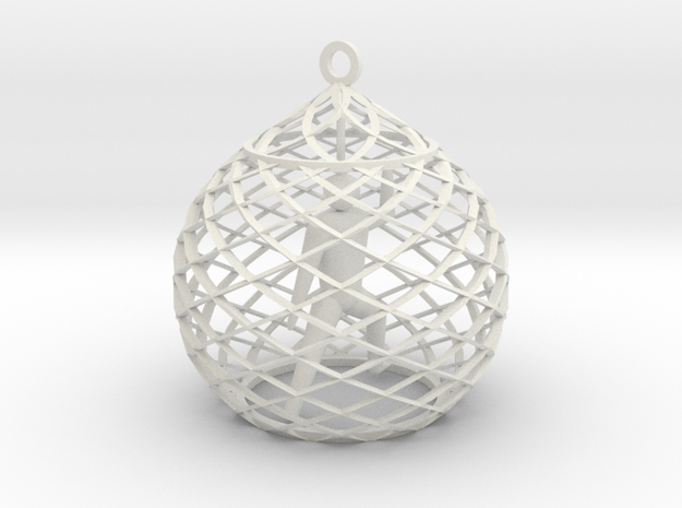 Ornament - Mountain Block in White Strong & Flexible