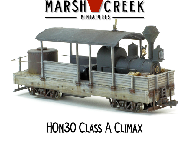 HOn30 Climax Class A in Smoothest Fine Detail Plastic