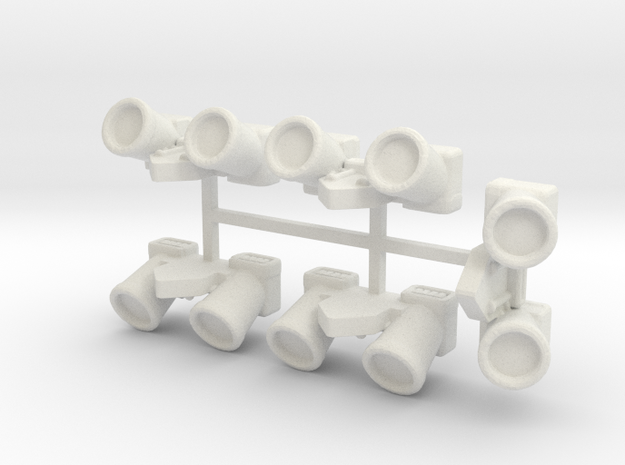 15mm Jetpack x5 in White Natural Versatile Plastic