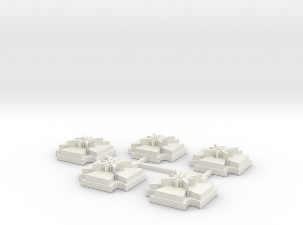 15mm Shield x5 in White Strong & Flexible