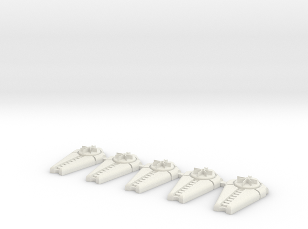15mm Space Zombie Shields x5 in White Strong & Flexible