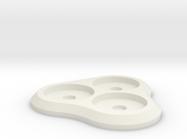 15mm 3-man MagTray 2 in White Natural Versatile Plastic