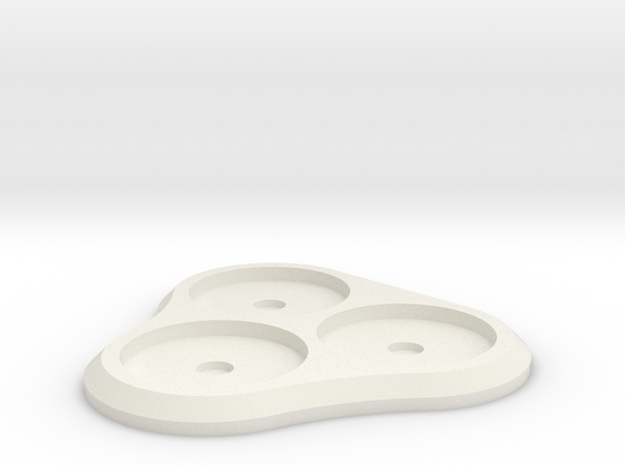 20mm 3-man Mag Tray 2 in White Natural Versatile Plastic