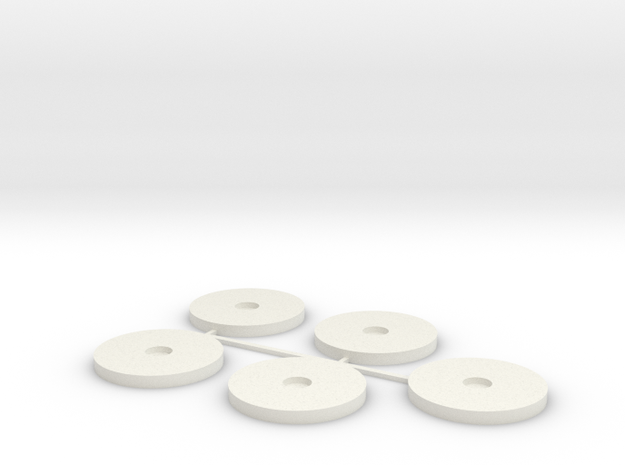 20x2mm MagBase x5 in White Natural Versatile Plastic