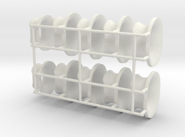 Fairleads scale 1:33 in White Natural Versatile Plastic