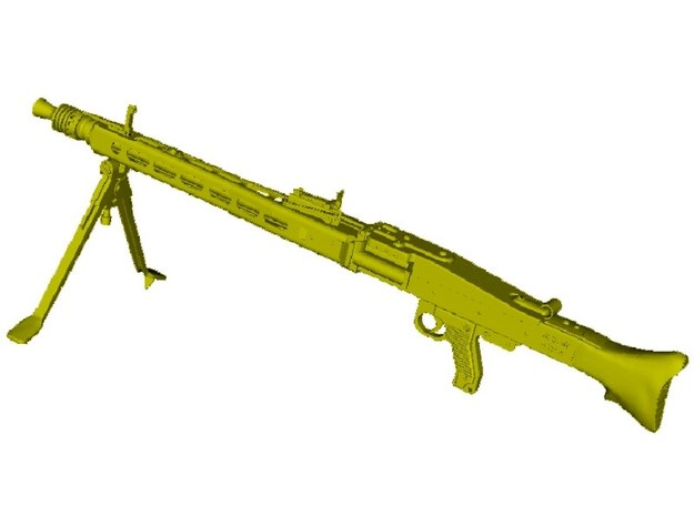 1/24 scale WWII Wehrmacht MG-42 machinegun x 1