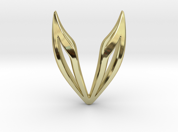 LONELY WINGS Simplified, Pendant in 18K Gold Plated