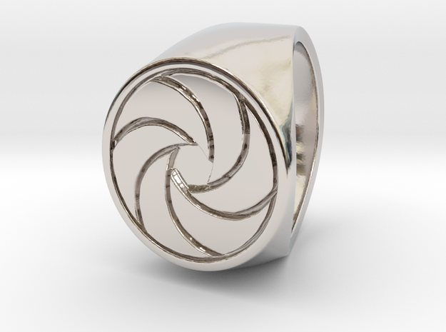 Paul F. -  Signet Ring in Rhodium Plated: 6 / 51.5