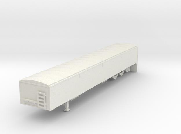 000407 Canada Grain Trailer HO 1:87 in White Natural Versatile Plastic