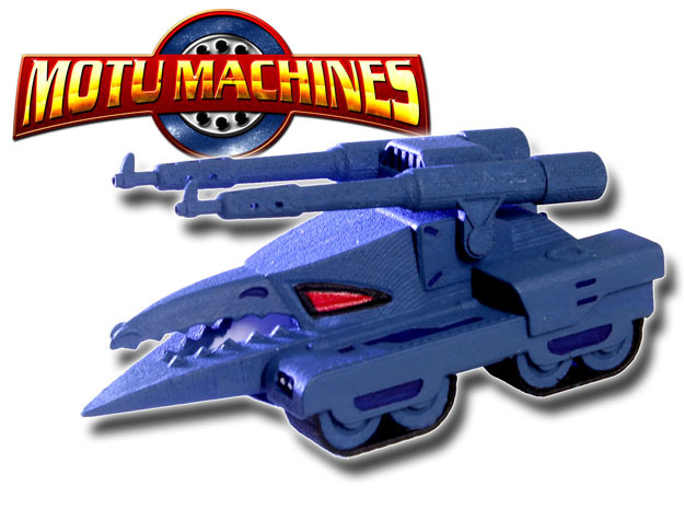 MOTU Machines Series - Destructo Tank V1 in White Processed Versatile Plastic