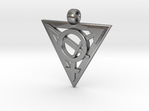 Transgender Warrior Pendant (small) 3d printed