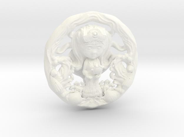 Yemanja 5cm in White Processed Versatile Plastic