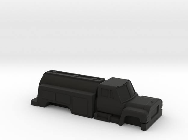 Oil Truck in Black Strong & Flexible: 1:48 - O