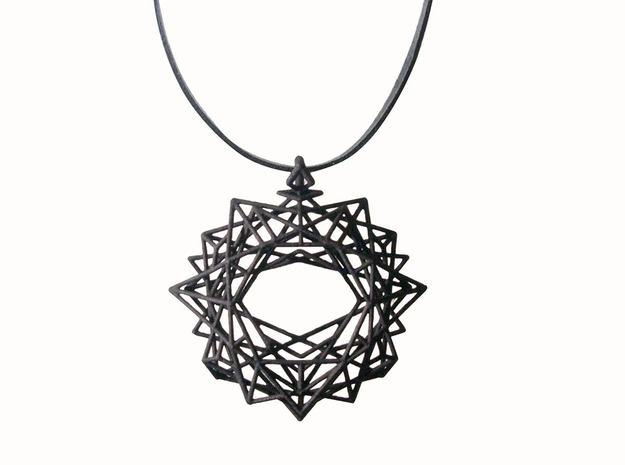 Pendant_top in Black Natural Versatile Plastic