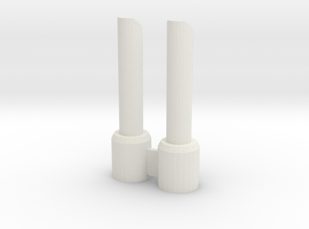 CW: SND01 Vent add-on 30mm in White Natural Versatile Plastic