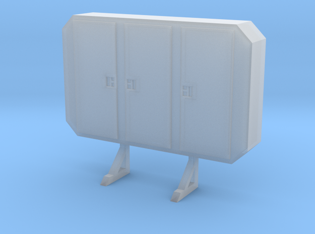 1/87 HO cabinet headache rack in Smooth Fine Detail Plastic