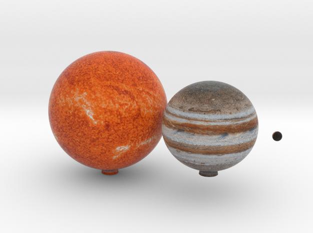 The known Proxima Centauri system in Full Color Sandstone