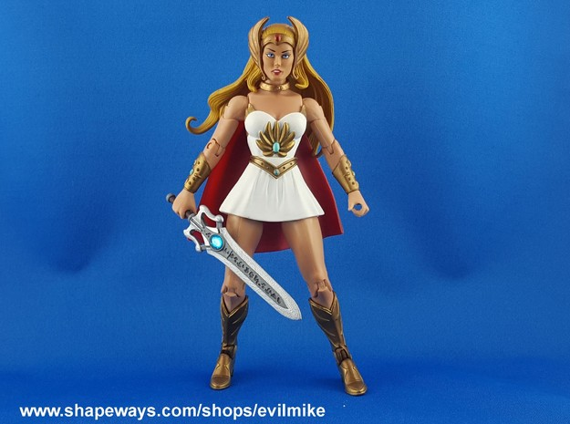Rune Powersword Female in White Strong & Flexible Polished