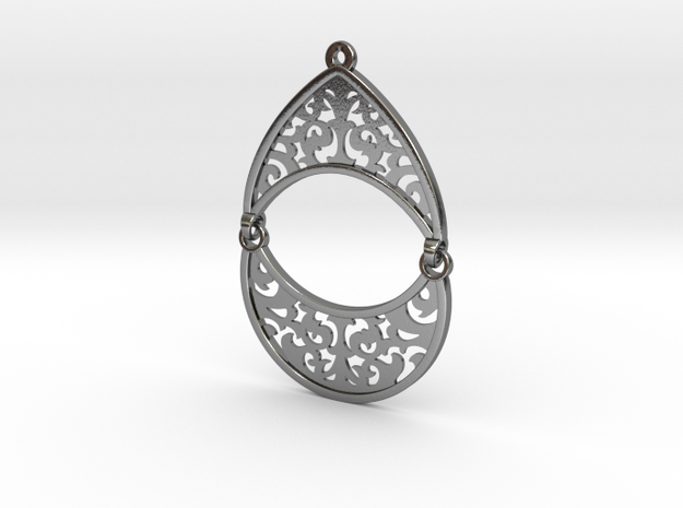 BlakOpal Filigree Teardrop Earring