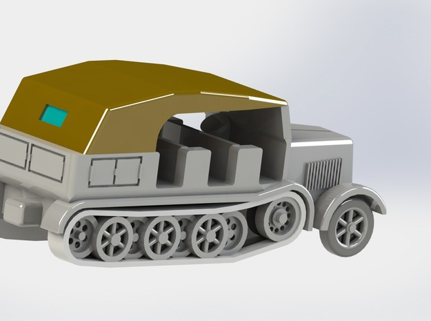 SdKfz. 8 12to Prime Mover 1/285 6mm 3d printed