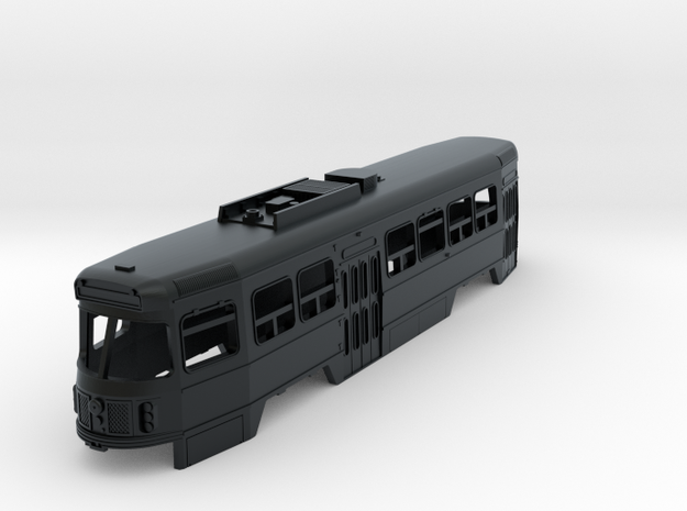 N Scale Toronto CLRV Trolley Body Shell in Black Hi-Def Acrylate