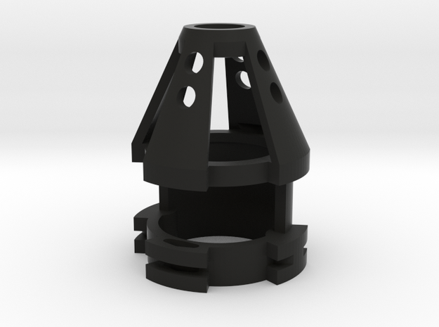 "1.14"" 20mm Speaker/Recharge Port in Black Natural Versatile Plastic"