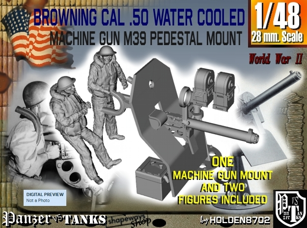 1-48 USN Cal 50 WC Mount M39 & Crew Set