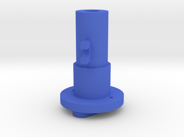 Thrustmaster joystick tailpiece 15° offset in Blue Strong & Flexible Polished