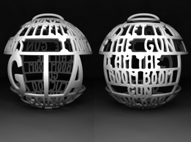 Gia Quotaball in White Processed Versatile Plastic