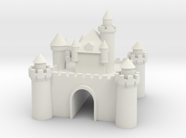 Castle - Porcelain - Zscale in White Natural Versatile Plastic