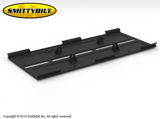 AJ10038 Smittybilt XRC Skid Plate  in Black Strong & Flexible