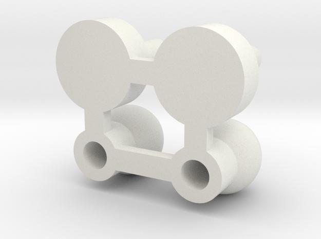Motormaster postmount in White Natural Versatile Plastic