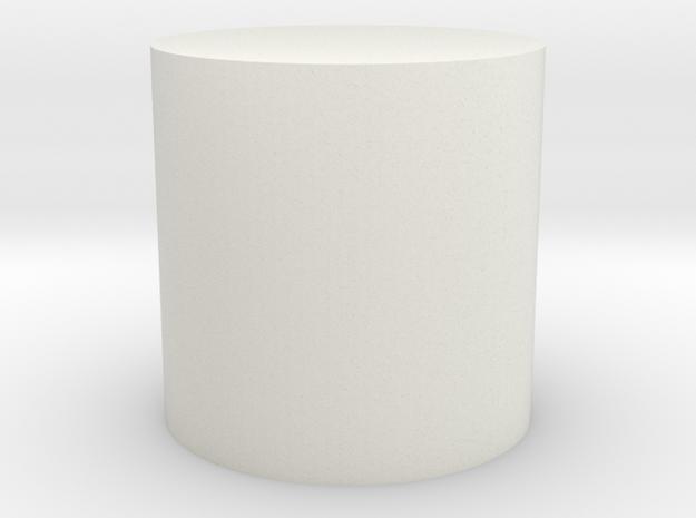 Cylinder Shape in White Natural Versatile Plastic