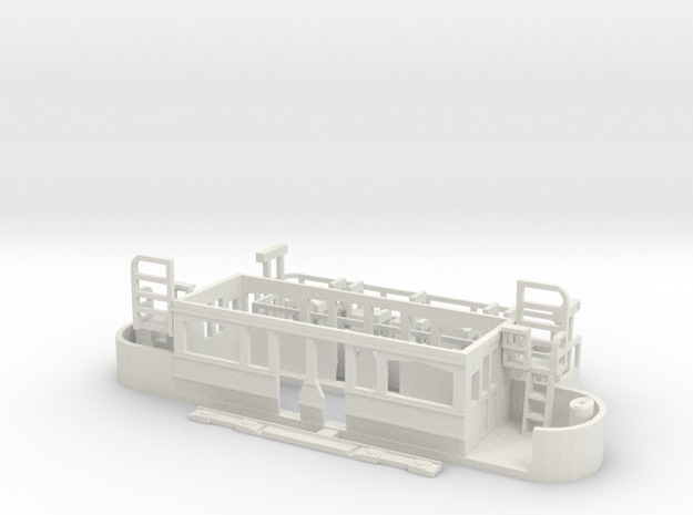 Eastbourne Tramway Car 2 in White Strong & Flexible