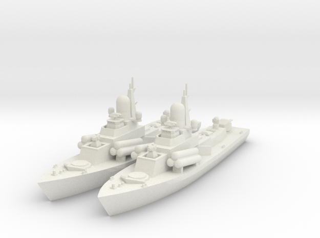 1/600 Nanuchka 1 Missile Corvette x2 in White Strong & Flexible