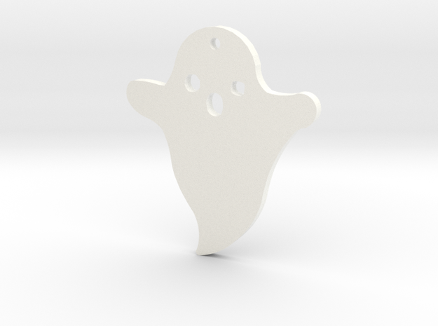 Lucy's Ghost Earrings in White Strong & Flexible Polished